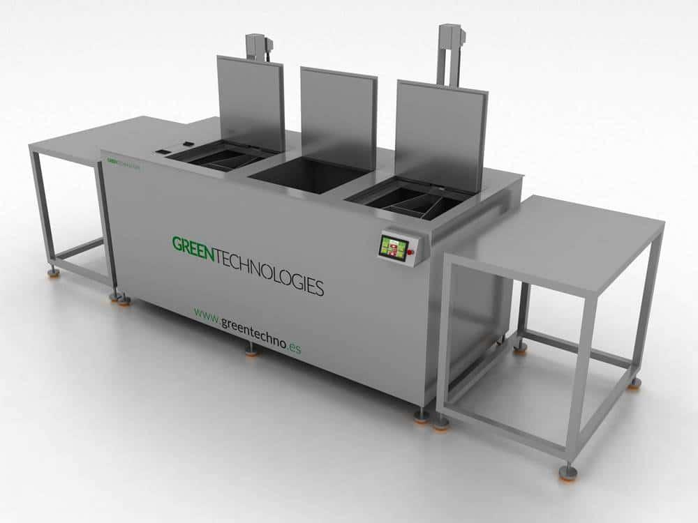 Diseño de máquina de limpieza por ultrasonidos Greentechno 2