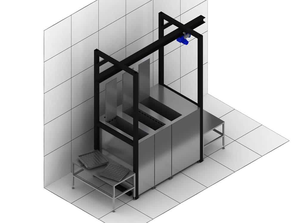 Máquina de limpieza por ultrasonidos a medida