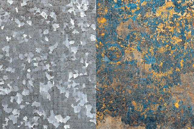 Acero galvanizado vs Acero Oxidado