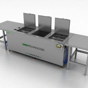 Equipo a medida multi-etapa de limpieza por ultrasonidos