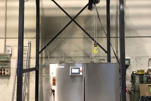 máquina de limpieza por ultrasonidos