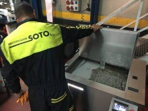 Máquinas de limpieza ultrasónica para rectificadoras