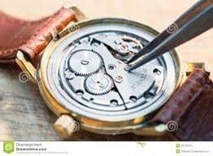 Limpieza de piezas de relojes
