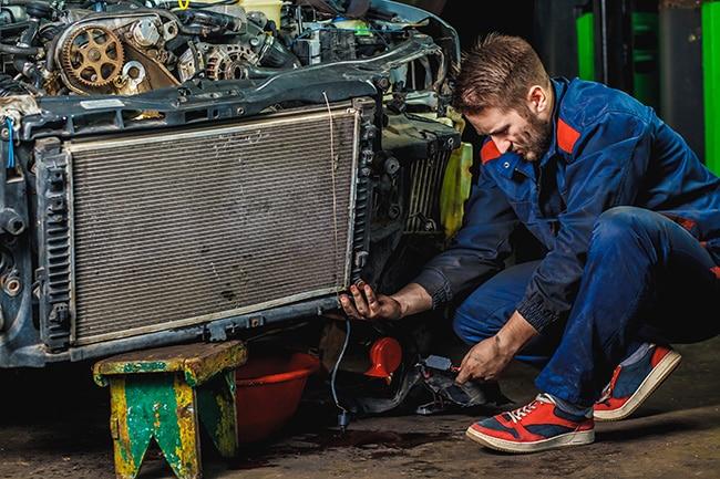 limpieza radiador coche manual