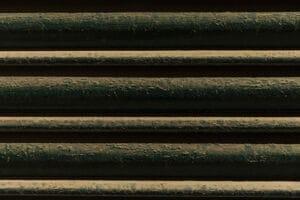persiana metal sucia